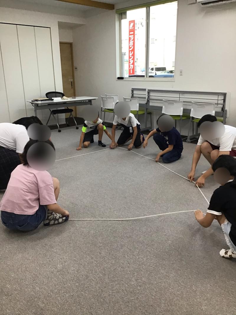ロープを使って星作り⁉